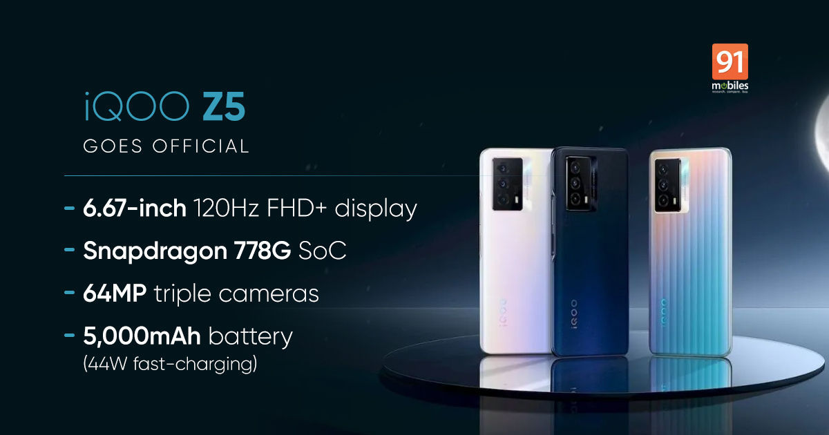 iQOO Z5 5G Launch date and Specifications revealed